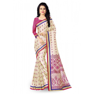 Generic Women's Art Silk Saree (Multi, 5.5-6mtrs)