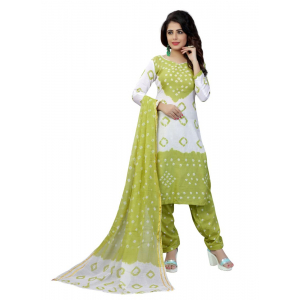 Generic Women's Satin Cotton Salwar Material (Green, 2-2.5mtrs)