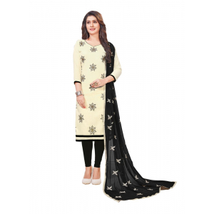 Generic Women's Slub Cotton Salwar Material (Off White, 2-2.5mtrs)