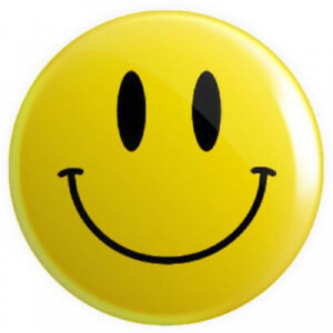 Smiley Badge with Solid Eye