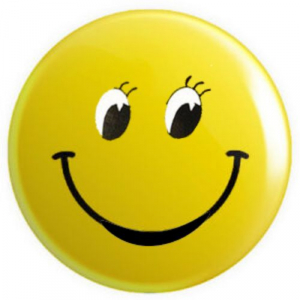 Smiley Badge with full eye open