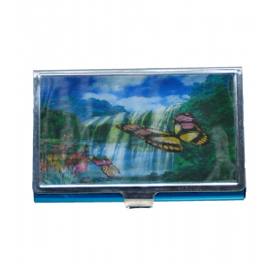 Butterfuly Double Magic Image Credit card wallet