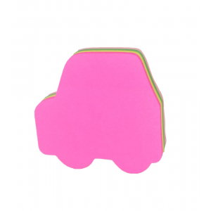 Car Shape, Assorted Colors Sticky Notes