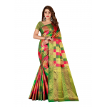 Generic Women's Sana Silk Saree with Blouse (Multi, 5-6 Mtrs)