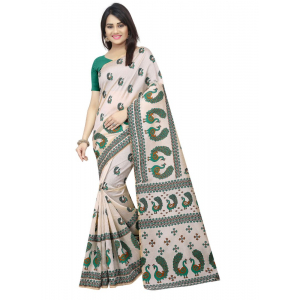 Generic Women's Bhagalpuri Saree with Blouse (Multi, 5-6 Mtrs)