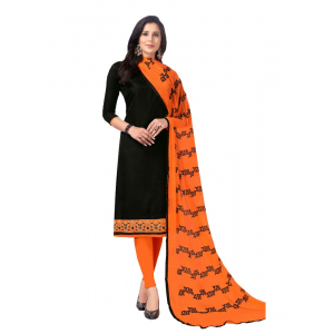 Generic Women's Cotton Salwar Material (Black, 2 Mtr)