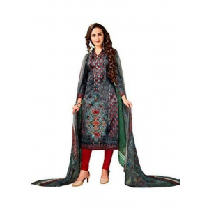 Turvi Women's Cotton Salwar Material (Multi, 2.5 Mtr)