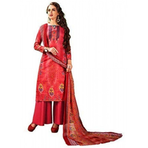 Generic Women's Cotton Salwar Material (Light Red, 2.5 Mtr)