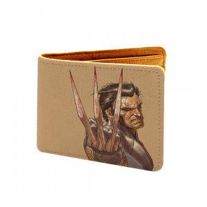 X-Man, Logan Design Brown Canvas, Artificial Leather Wallet