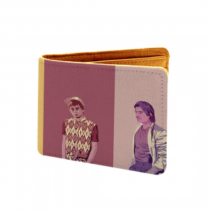 Young Boy Design Multi color Canvas, Artificial Leather Wallet