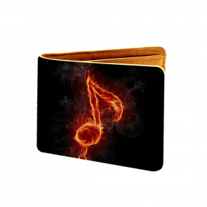 Music  Design Black Canvas, Artificial Leather Wallet