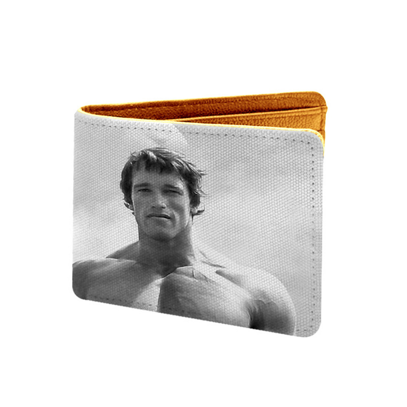 Arnold Series Design Grey Canvas, Artificial Leather Wallet
