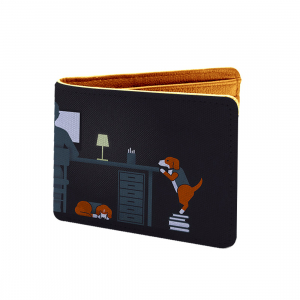 Cartoon Design Design Multi color Canvas, Artificial Leather Wallet