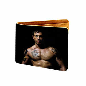 Tom Hardy Design Black Canvas, Artificial Leather Wallet