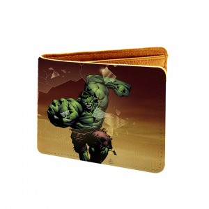 Halk Smash Design Multi color Canvas, Artificial Leather Wallet