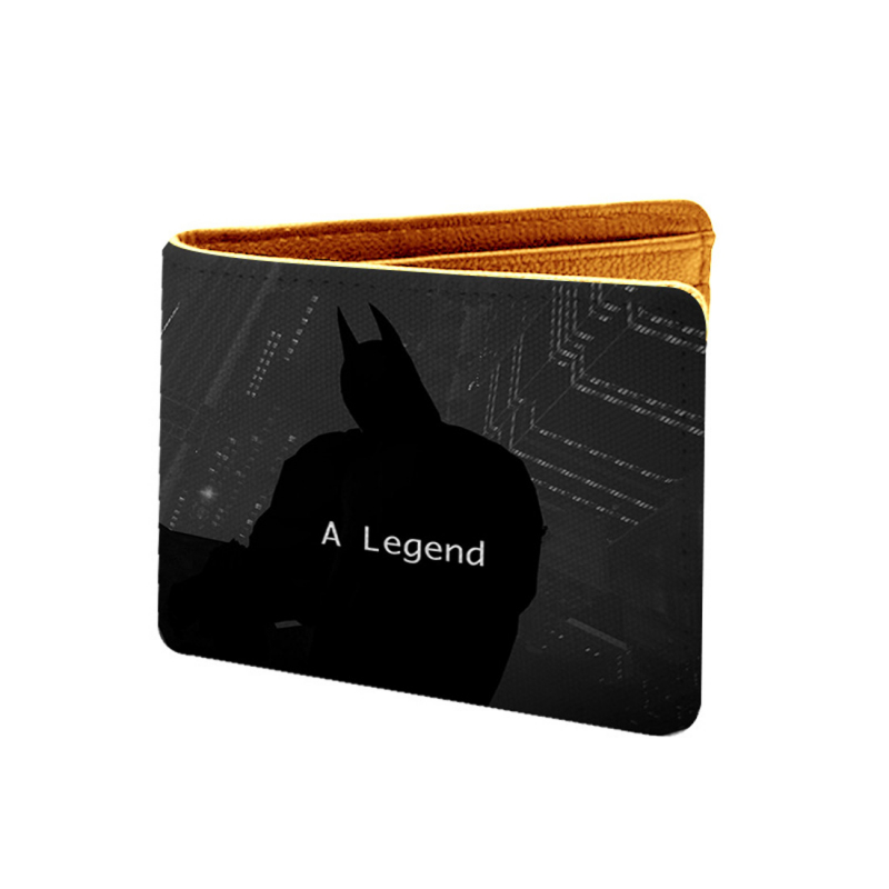 Batman Design Black Canvas, Artificial Leather Wallet