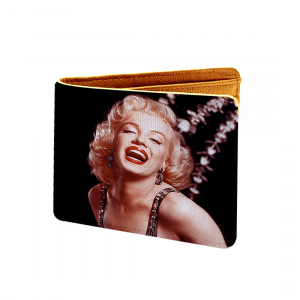 Music Queen Design Black Canvas, Artificial Leather Wallet