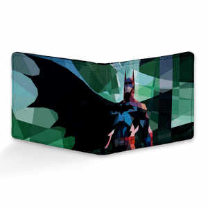 Batman Design Multi color Canvas, Artificial Leather Wallet