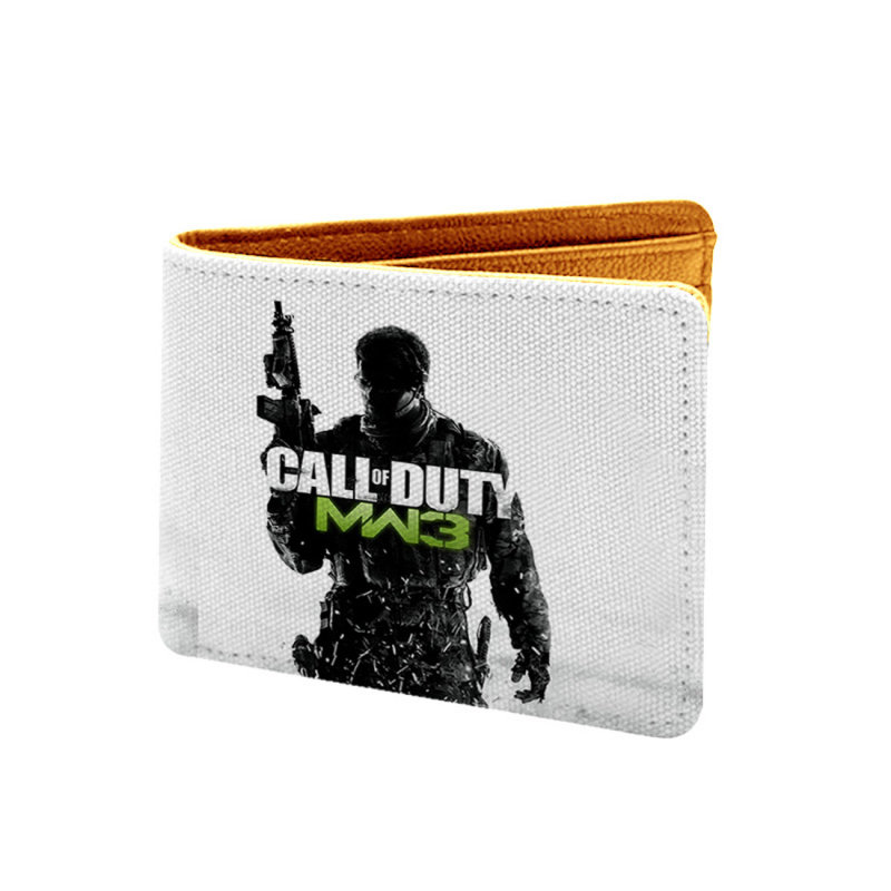Call Of Duty  Design White and Black Canvas, Artificial Leather Wallet