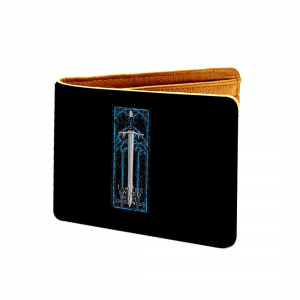 Creative Arts Design Black and Blue Canvas, Artificial Leather Wallet