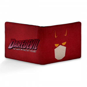 Daredevil, Batman Design Red Canvas, Artificial Leather Wallet