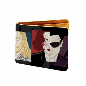 Super Hero  Design Multi color Canvas, Artificial Leather Wallet