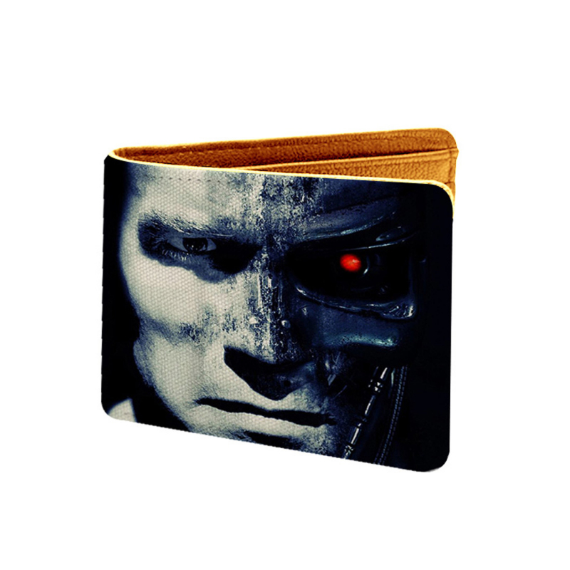 Robotic Man Design Multi color Canvas, Artificial Leather Wallet