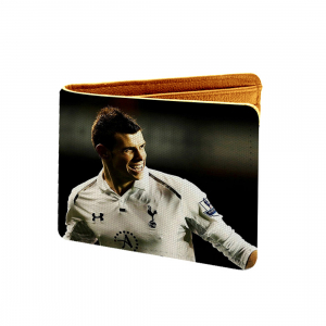 Gareth Bale Design Multi color Canvas, Artificial Leather Wallet