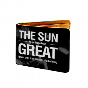 The Sun Great Design Black and white Canvas, Artificial Leather Wallet