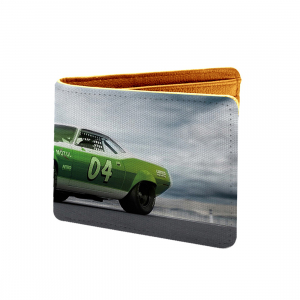Super Car Design Multi color Canvas, Artificial Leather Wallet