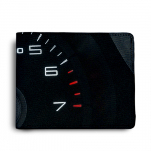 Car Design Black Canvas, Artificial Leather Wallet