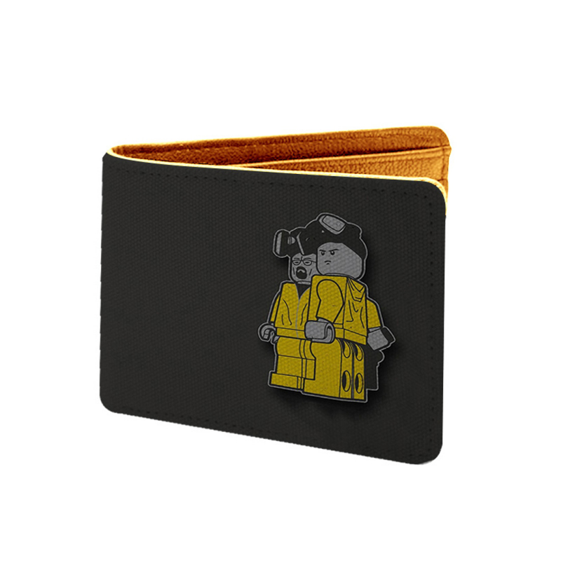 Br, Ba Breaking Bad Design Black Canvas, Artificial Leather Wallet