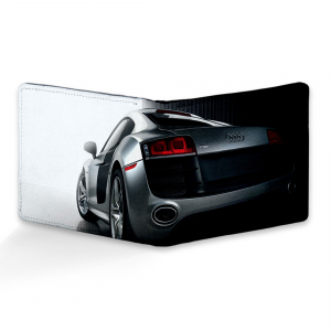 Audi Car Design Black Canvas, Artificial Leather Wallet