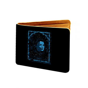 Star Trek Design Black and Blue Canvas, Artificial Leather Wallet