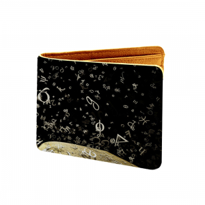 Music Pattern Design Design Black Canvas, Artificial Leather Wallet