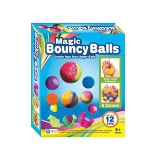 Magic Bouncy Balls, Includes 12 Balls-Color May Vary
