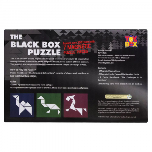 The Black Box Puzzle-7 Magnetic Puzzle Pieces