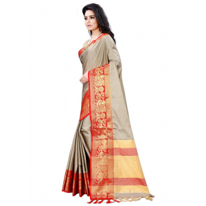 Generic Women's Cotton Silk Saree (Multi Color , 5-6 Mtrs)