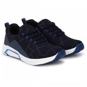 Generic Men Navy Blue,White Color Canvas Material  Casual Sports Shoes