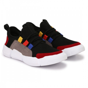 Generic Men Black Color Canvas Material  Casual Sneakers