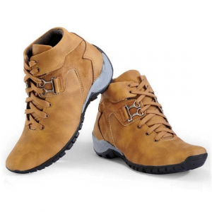 Generic Men Tan Brown Color Synthetic Material  Casual Boots