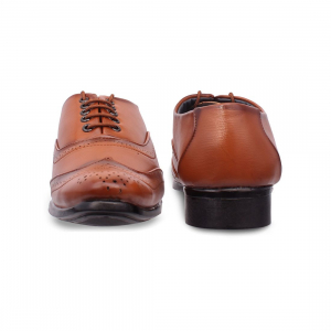 Generic Men Tan Brown Color Synthetic Leather Material  Casual Formal Shoes