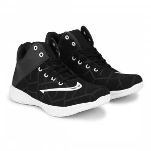 Generic Men Black,White Color Canvas Material  Casual Sneakers