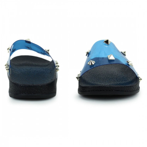 Generic Women Navy Blue Color Synthetic Material  Casual Sliders
