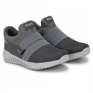 Generic Men Grey Color Mesh Material  Casual Sports Shoes