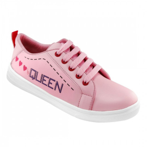 Generic Women Pink Color Leatherette Material  Casual Sneakers