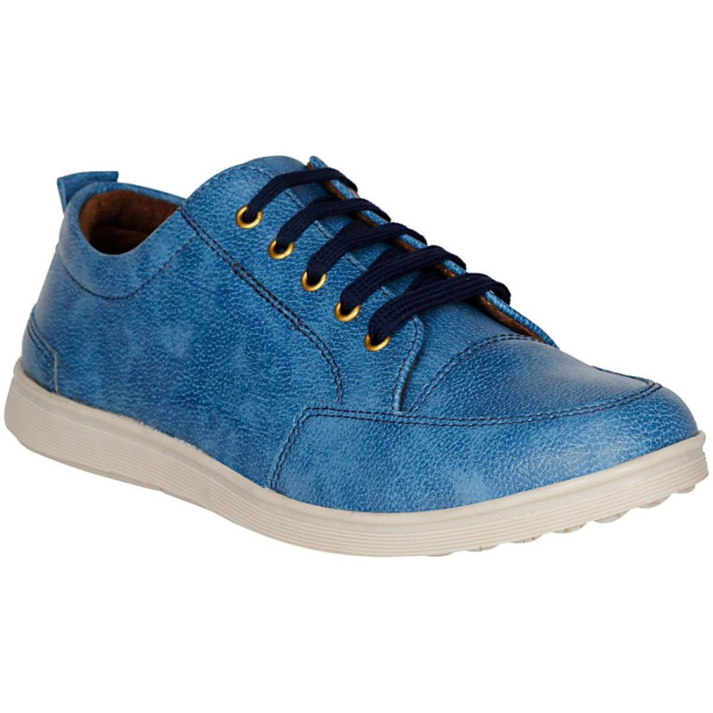 Generic Men Blue Color Synthetic Leather Material  Casual Sneakers