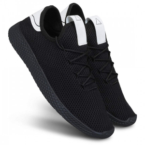 Generic Men Black Color Mesh Material  Casual Sports Shoes