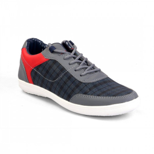 Generic Men Blue Color Fabric Material  Casual Sneakers
