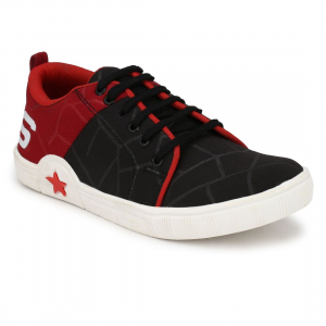 Generic Men Black,Red,White Color Canvas Material  Casual Sneakers